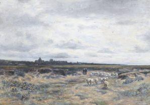 Sir George Reid PRSA HRSE LLD (British, 1841-1913) St Monance, Fife 55.9 x 76.2 cm. (22 x 30 in.)