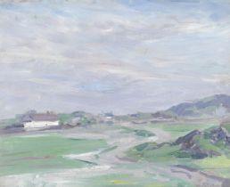 Francis Campbell Boileau Cadell RSA RSW (British, 1883-1937) Iona landscape 36.8 x 45.7 cm. (14 1...
