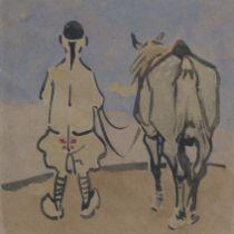 Joseph Crawhall RSW (British, 1861-1913) Horse and jockey 16 x 16 cm. (6 5/16 x 6 5/16 in.)