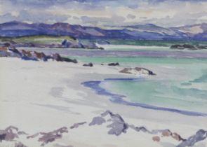 Francis Campbell Boileau Cadell RSA RSW (British, 1883-1937) Traigh Ban nam Manach, Iona 16.5 x 2...