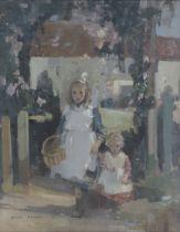 Hugh Munro (British, 1873-1928) The morning stroll 49 x 38.5 cm. (19 5/16 x 15 3/16 in.)