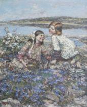 Edward Atkinson Hornel (British, 1864-1933) Brighouse Bay 93 x 77 cm. (36 5/8 x 30 5/16 in.)