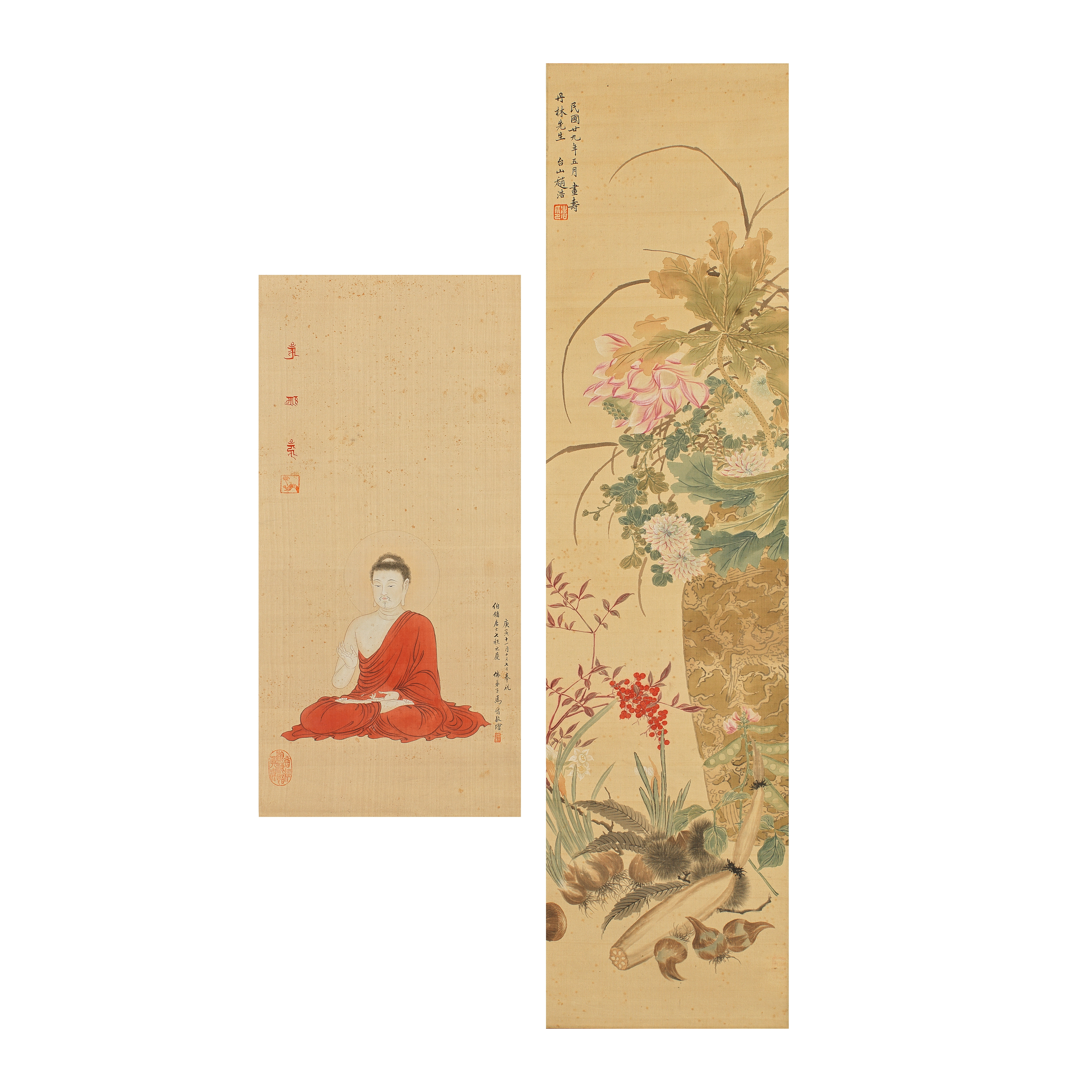 RESPECTIVELY IN THE MANNER OF ZHAO HAO (1881-1947) AND IN THE MANNER OF MA JIN (1900—1970) ...