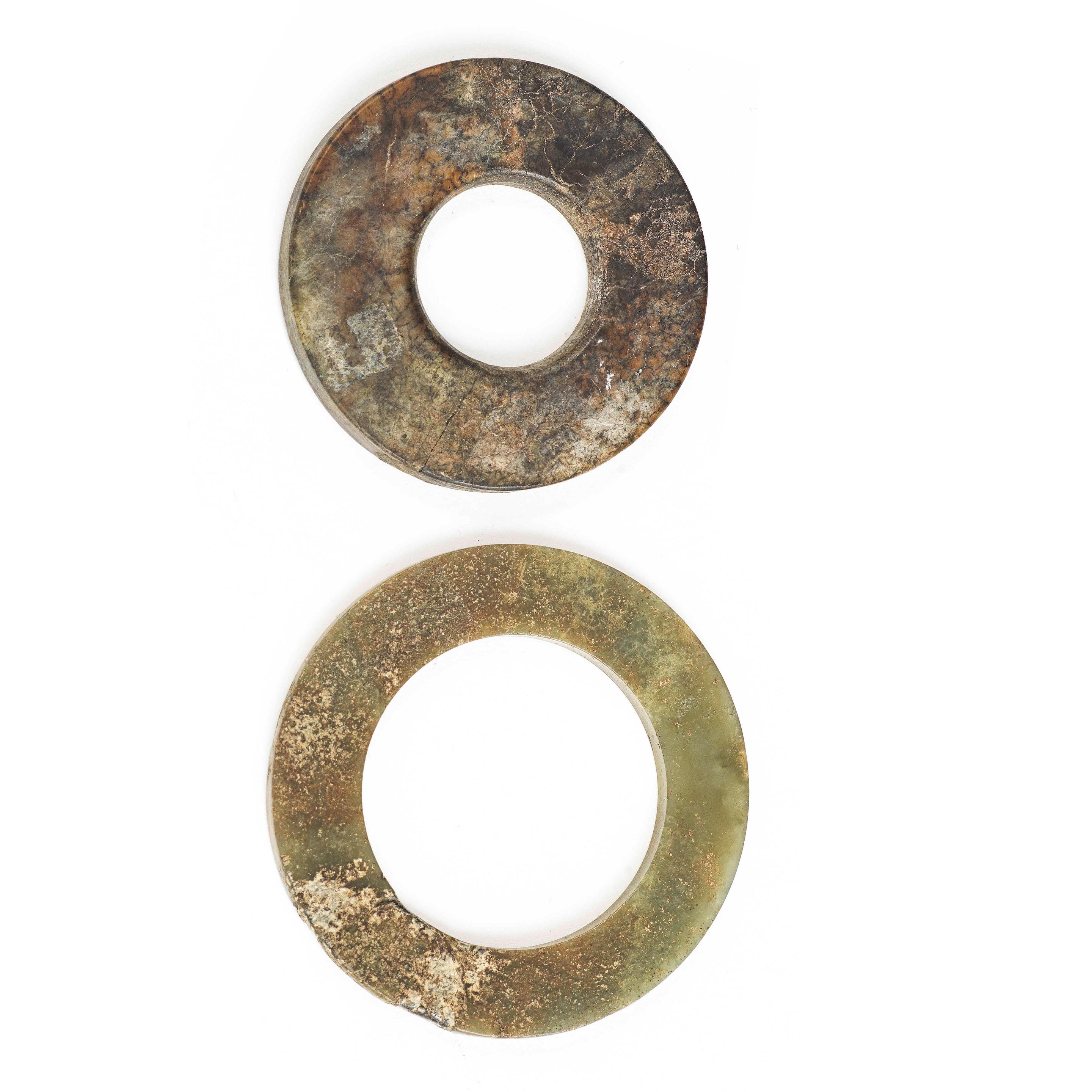 A JADE DISC, BI, AND A JADE RING, HUAN Warring States/Han Dynasty or later (2)