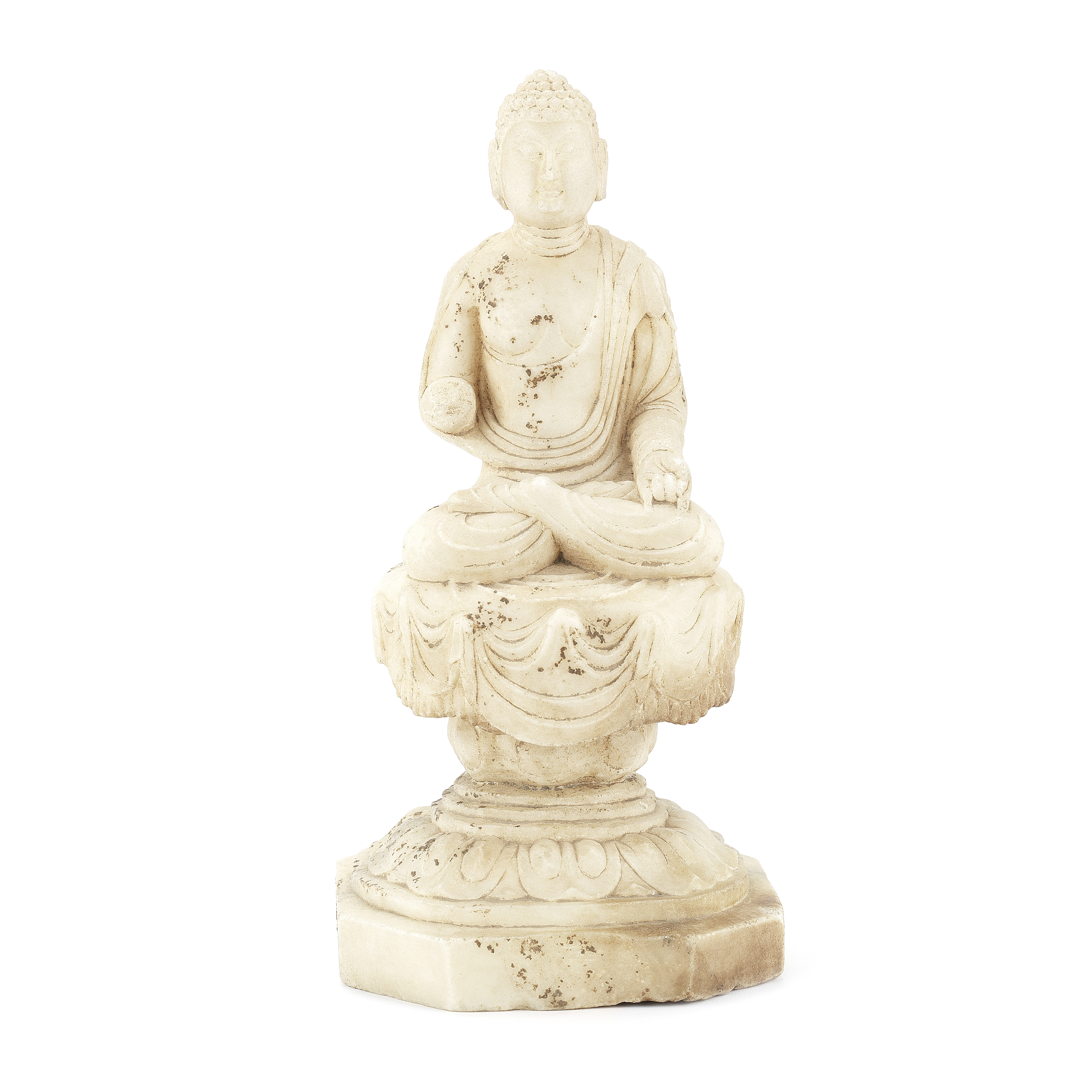 A TANG-STYLE MARBLE FIGURE OF BUDDHA
