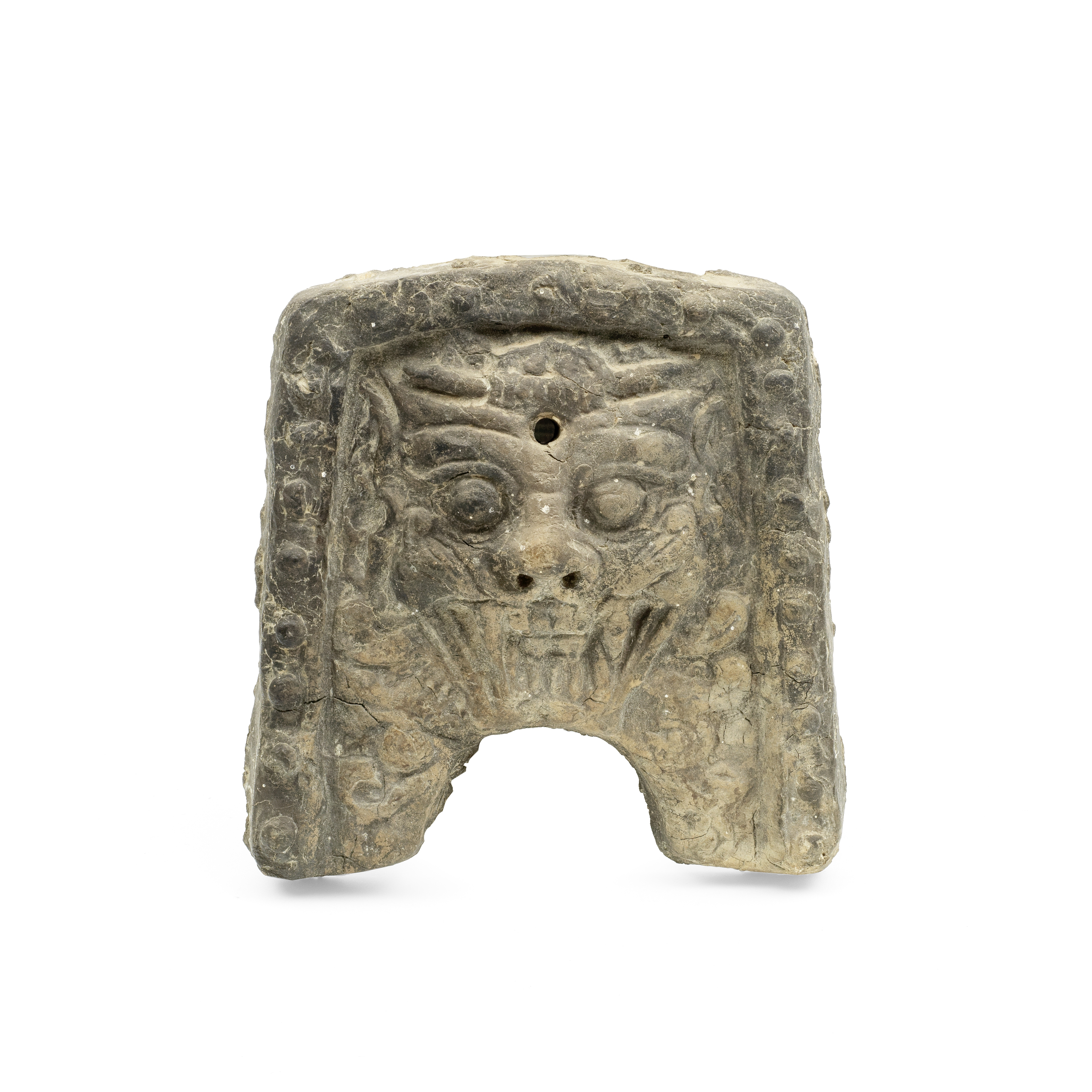 A MOULDED CERAMIC TILE Korea, probably Silla Dynasty