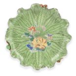 A FAMILLE VERTE AND IRON-RED LOTUS STAND Qing Dynasty