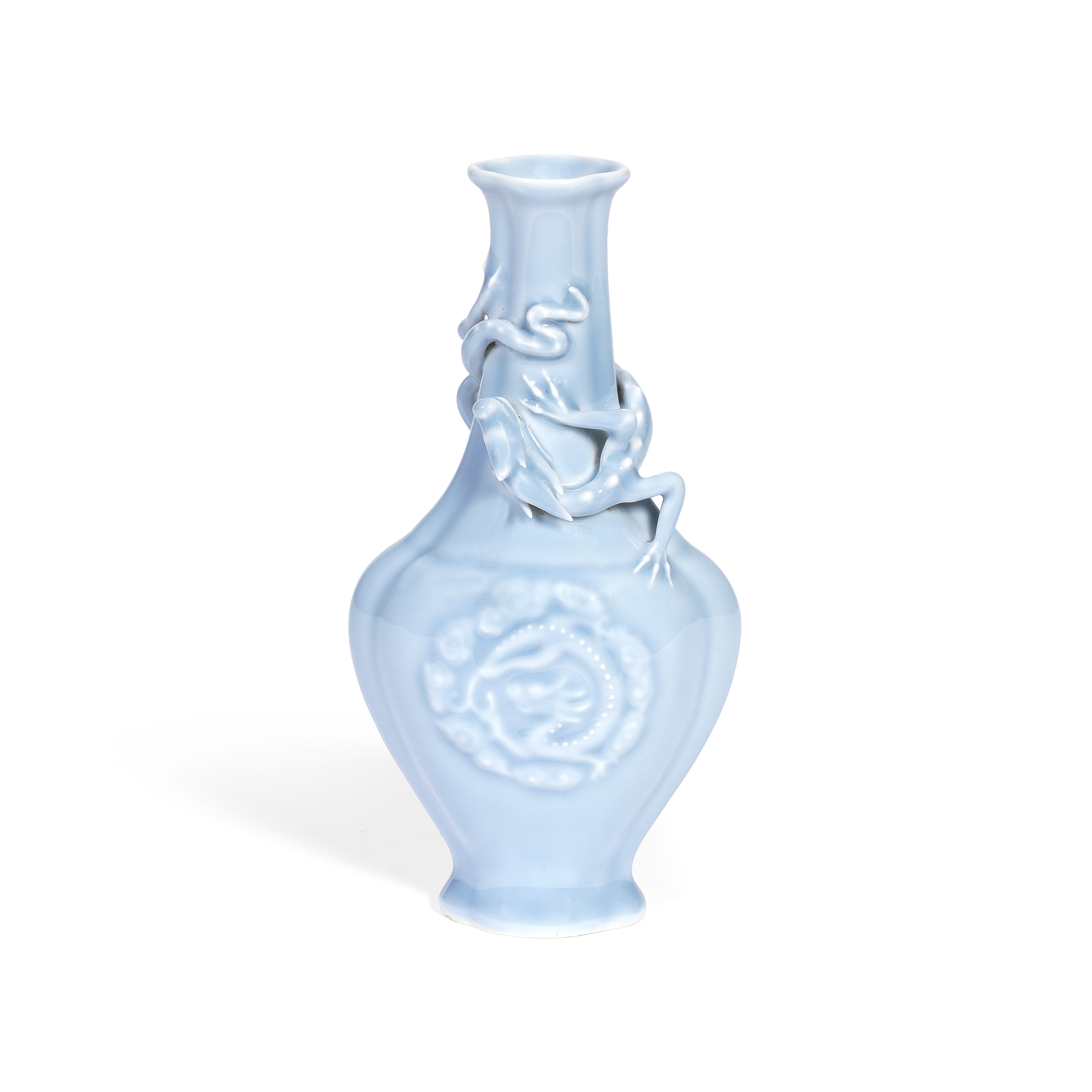 A CLAIR-DE-LUNE 'CHILONG' VASE Qianlong minyao seal mark and of the period