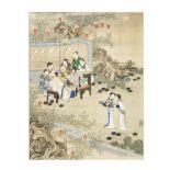WANG CHENGXUN (LATE QING DYNASTY) 'Scholars gathering'