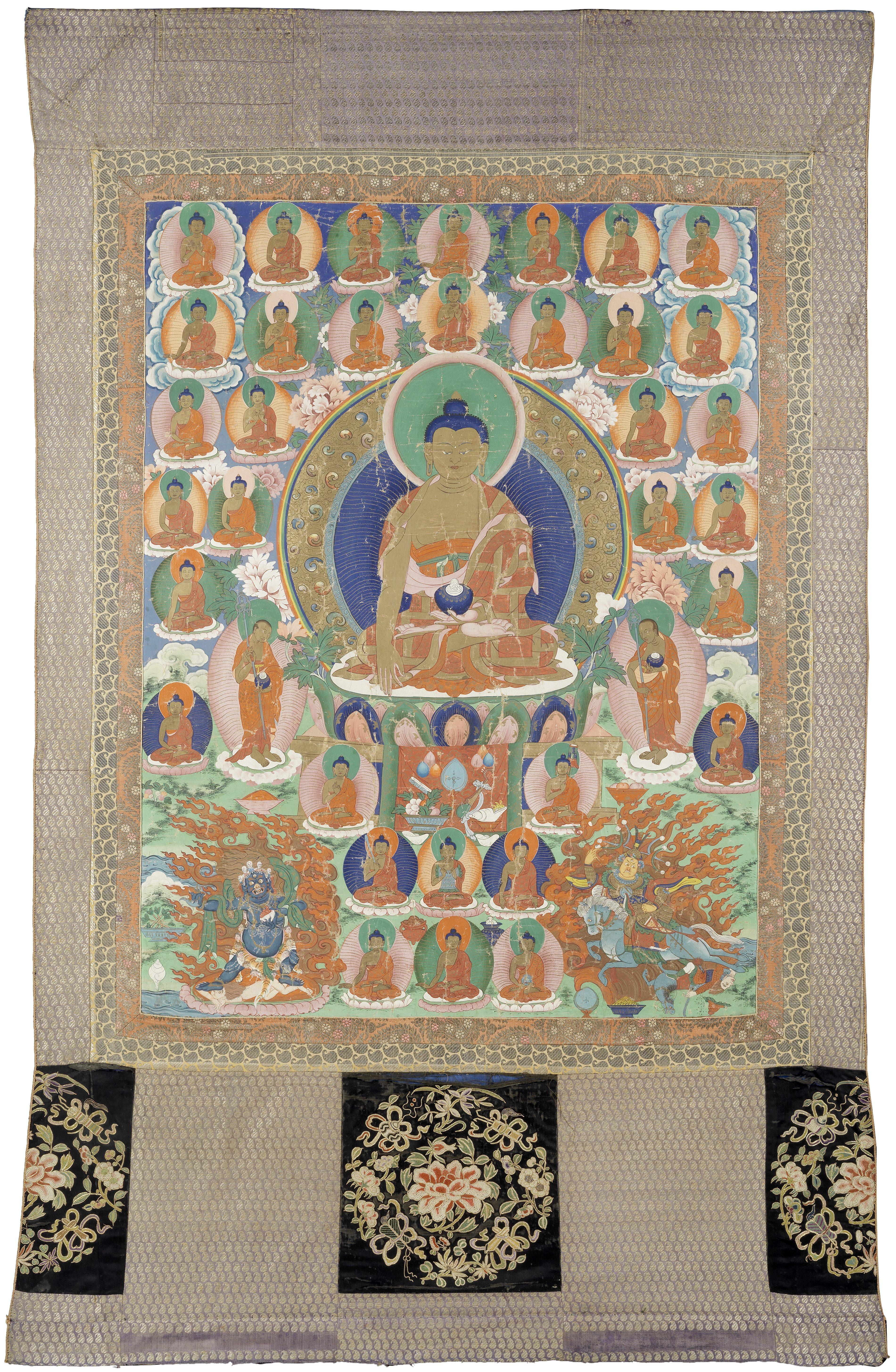 A THANGKA OF BUDDHA SHAKYAMUNI Tibet, 18th century