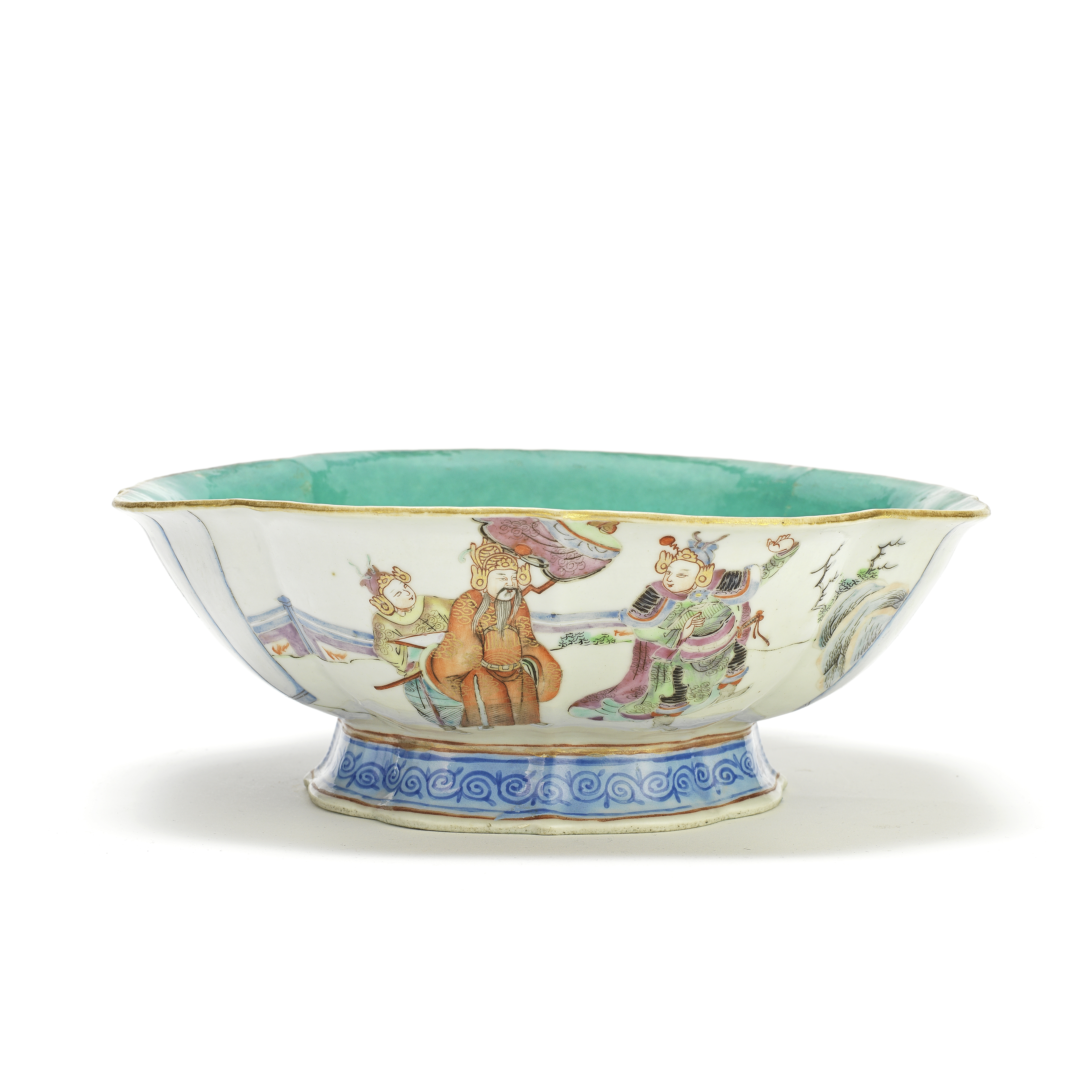 A FAMILLE ROSE STEM BOWL Tongzhi seal mark and of the period