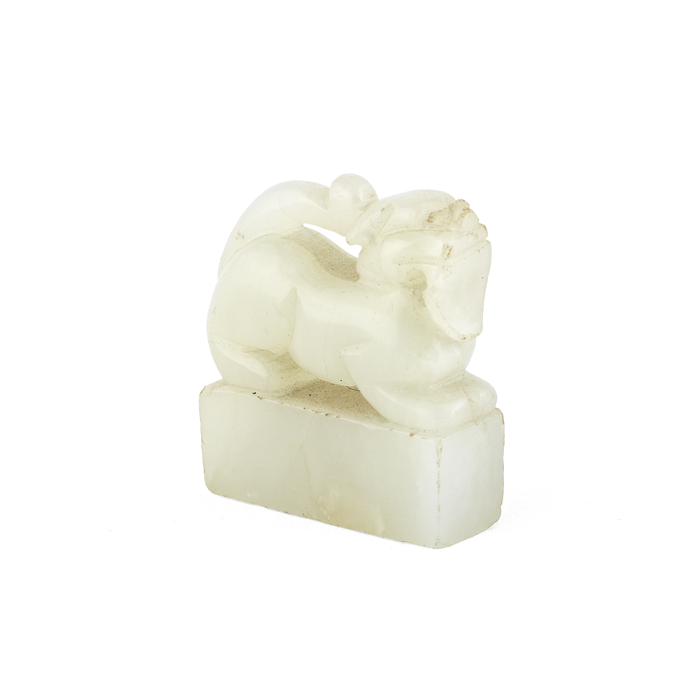 AN INSCRIBED JADE SEAL 18th/19th century