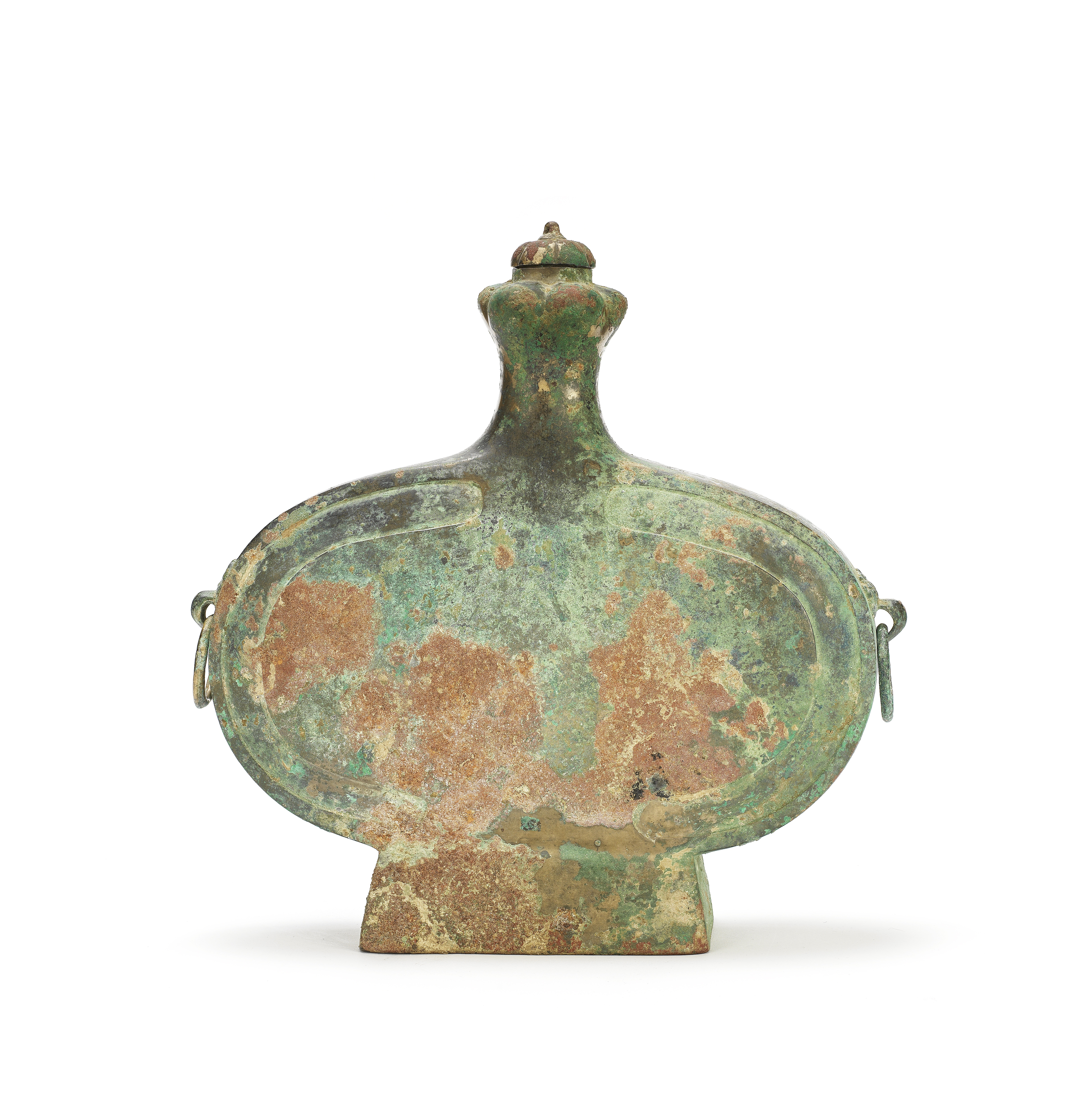 AN ARCHAIC BRONZE LOBED WINE VESSEL AND COVER, BIANHU Qin/Western Han Dynasty (3)