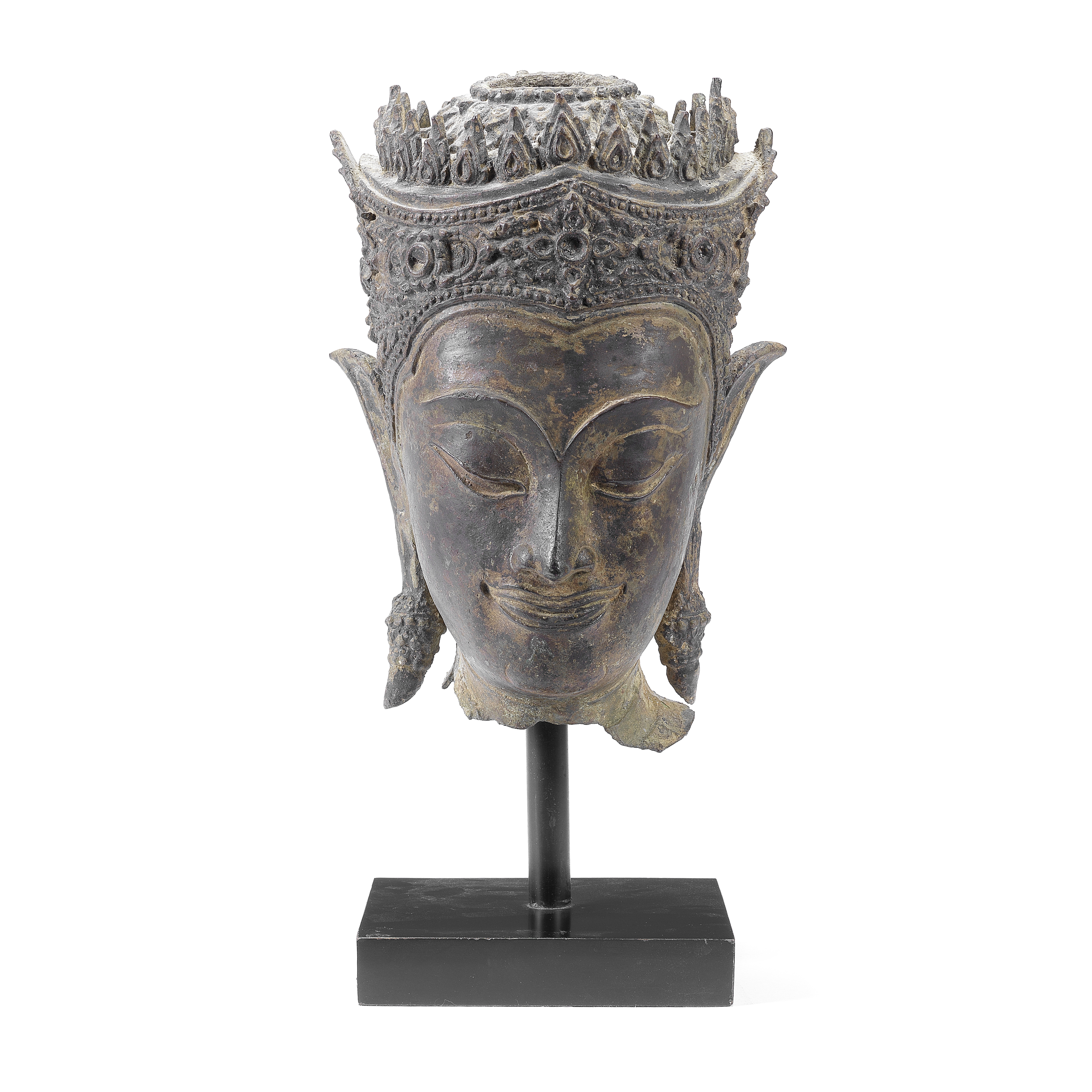 A BRONZE BUDDHA'S HEAD Ayutthaya, 17th century