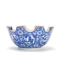 A RARE BLUE AND WHITE MONTEITH Kangxi, c. 1700-1715