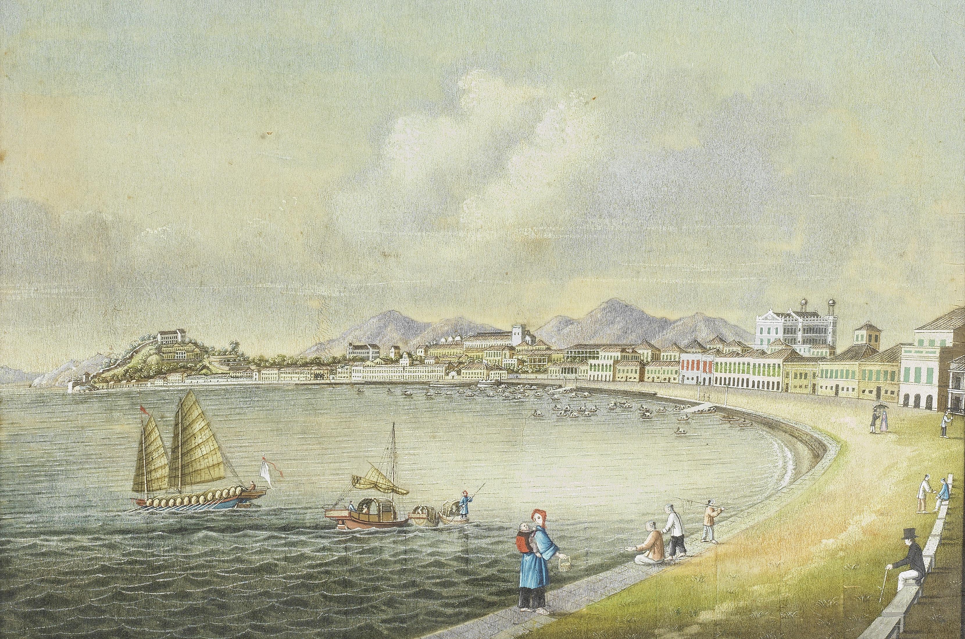 STYLE OF TING QUA, CIRCA 1850 'View over Praya Grande, Macau'