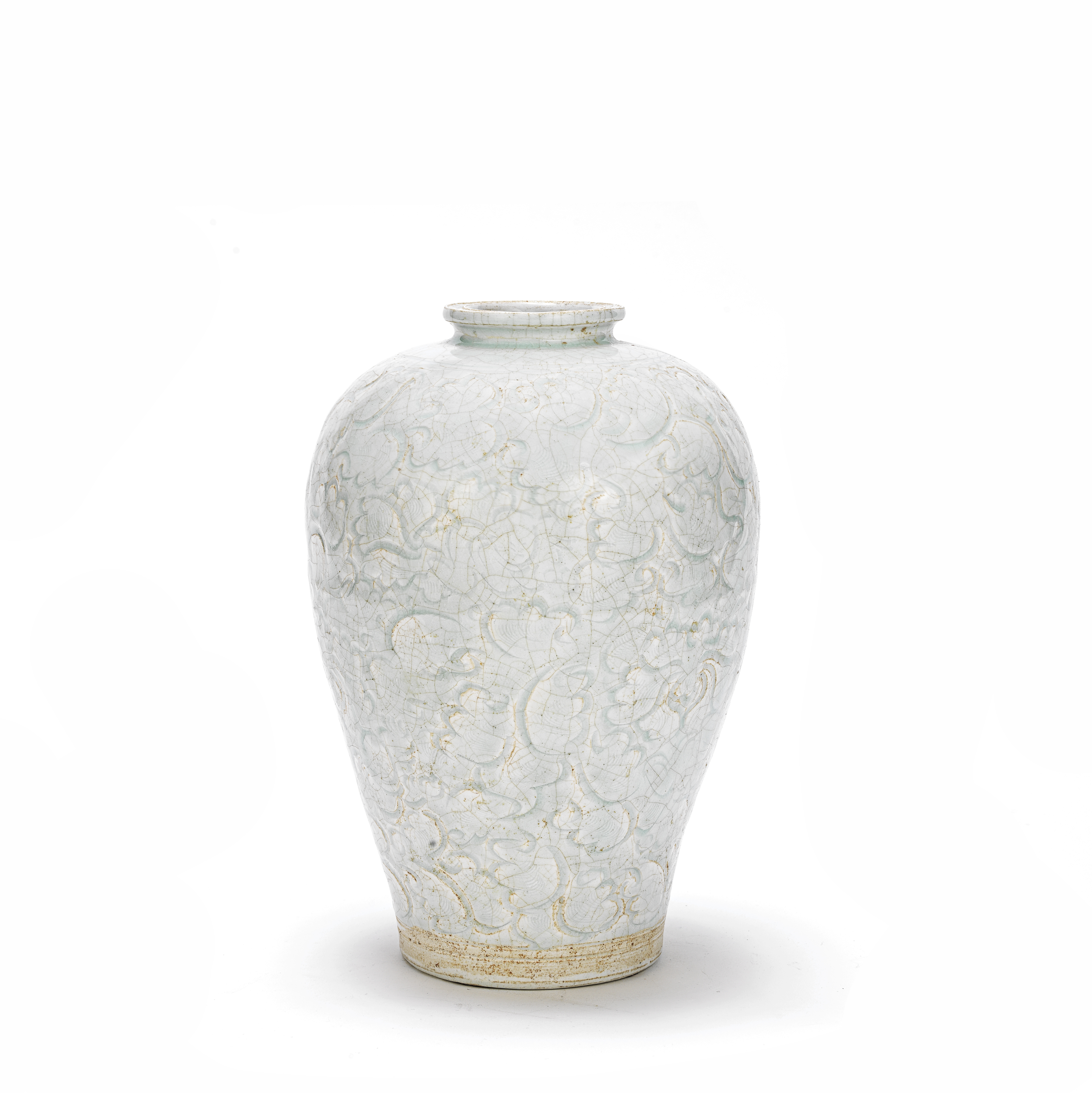 A CARVED QINGBAI 'LOTUS' VASE, MEIPING Southern Song Dynasty