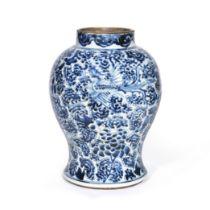 A BLUE AND WHITE 'PHOENIXES' JAR Kangxi