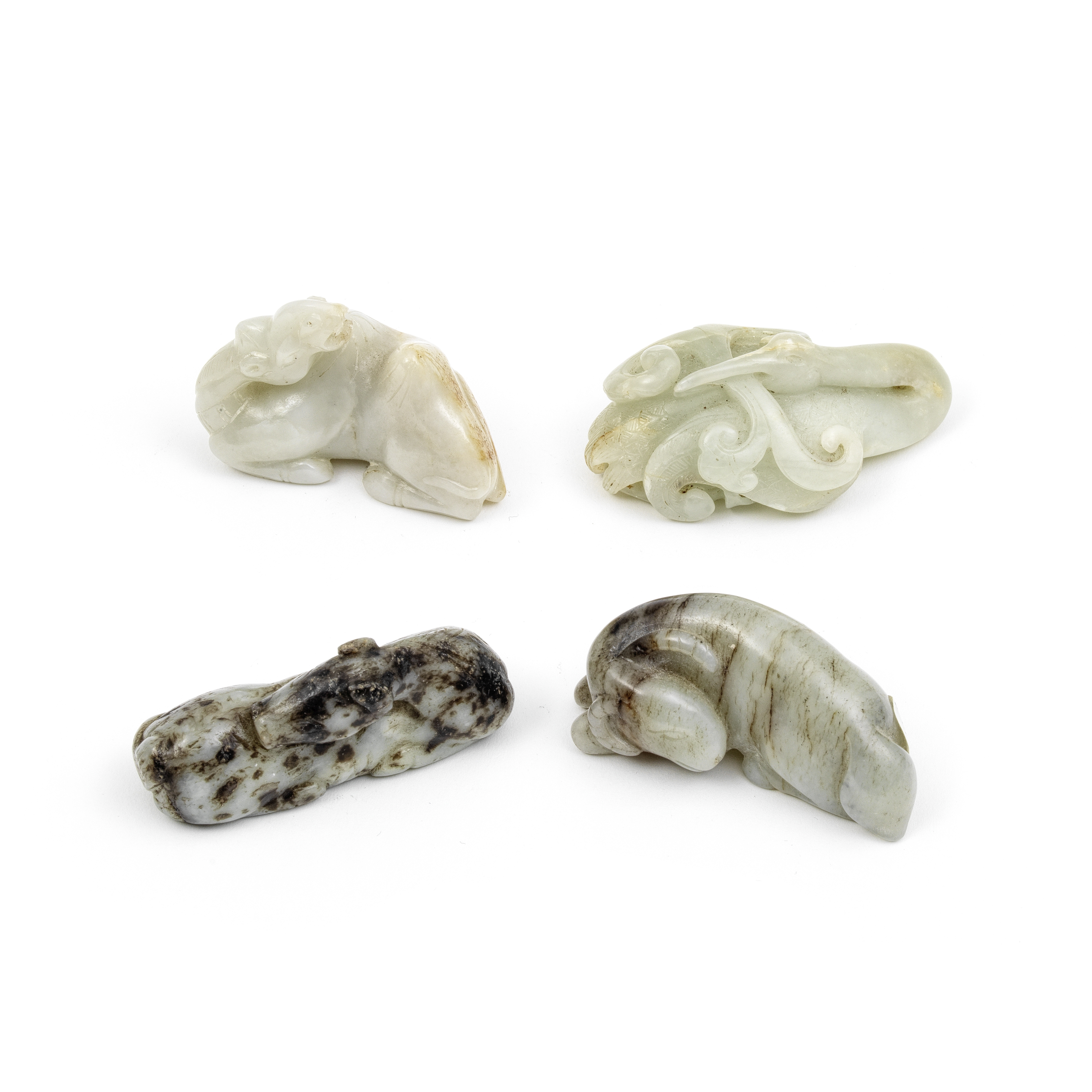 A GROUP OF FOUR JADE ANIMALS 19th/20th century (4)
