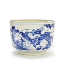 A BLUE AND WHITE DEEP BOWL Kangxi