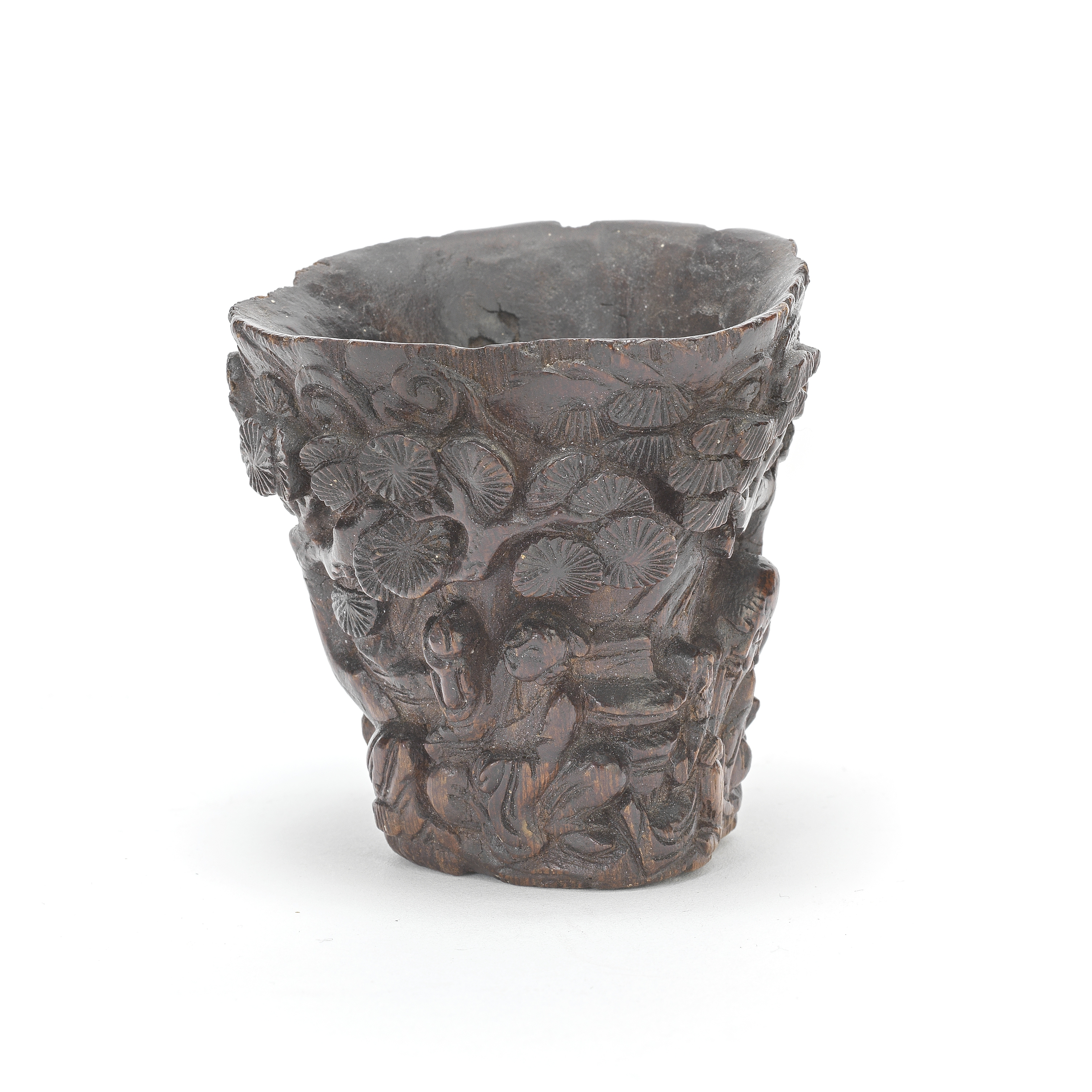 A CARVED CHEN XIANG MU LIBATION CUP Qing Dynasty