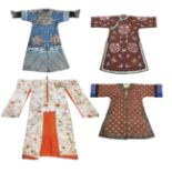 THREE CHINESE ROBES AND A JAPANESE KIMONO 19th to early 20th century (4)