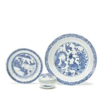 THREE BLUE AND WHITE WARES Late Ming Dynasty (4)