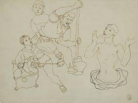 JEAN COCTEAU (1889-1963) Une scène de cuisine inspirée de la période Renaissance (...