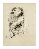 Jean Cocteau (1889-1963) La tragédie descendant des degrés (Exécuté vers 19...