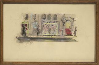 CHRISTIAN BERARD (1902-1949) Projet de décor pour la Belle endormie (gouache on paper)