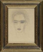 MARIE LAURENCIN (1883-1956) Portrait de Raymond Radiguet ( graphite on paper)