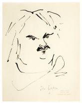 JEAN COCTEAU (1889-1963) Portrait d'Honoré de Balzac (Exécuté en 1948signedIndia i...