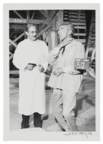 Lucien Clergue (1934-2014) Le Testament d'Orphée, Jean Cocteau between two scenes (Tirage de...