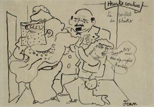 JEAN COCTEAU (1889-1963) Haute couture; Le conflit de Shako (Exécuté vers 1936/1937 ...