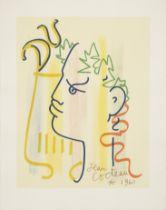 JEAN COCTEAU (1889-1963) Du; Profil vert