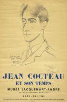 PABLO PICASSO (1881-1973) Affiche Exposition - Jean Cocteau et son temps- Musée Jacquemart-...