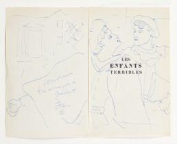 JEAN COCTEAU (1889-1963) Dargelos à la boule de neige et un autre élève (signed ...