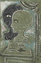 JEAN COCTEAU (1889-1963) Bustes d'Orphée et Eurydice (Exécuté en 1926 signed...