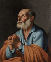 Follower of Carlo Saraceni (Venice 1579-1620) The Penitent Saint Peter