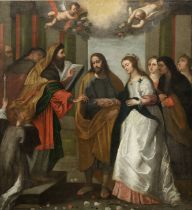 After Sir Peter Paul Rubens, 17th Century The Marriage of the Virgin unframed