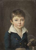 Attributed to Jean François Sablet (Morges 1745-1819 Nantes) Portrait of a boy, half-length,...