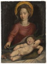 North Italian School, early 17th Century The Madonna with the sleeping Christ Child