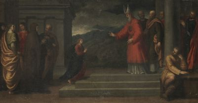 Giovanni Francesco Caroto (Verona circa 1480-1555) The Presentation in the Temple