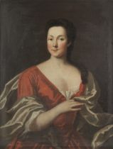Circle of John Theodore Heins (Norwich 1732-1771 Chelsea) Portrait of a lady, half-length, in a r...