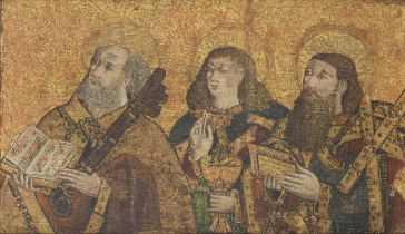 The Master of the Claveles (active Castille, second half of 15th Century ) Saints Peter, John the...