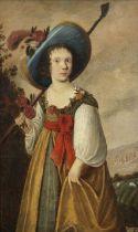 Follower of Jacob Gerritsz. Cuyp (Dordrecht 1594-circa 1651) Portrait of a girl, traditionally id...