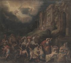 Follower of Johann Rottenhammer, The Destruction of the Children of Niobe, first half 17th centur...