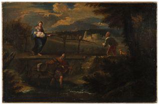 Studio of Pieter Mulier the Younger, called Tempesta (Haarlem circa 1637-1701 Milan) The Flight i...
