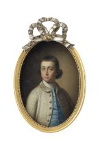 Attributed to John Downman A.R.A (Denbighshire 1750-1824 Wrexham) Portrait of a gentleman, said t...