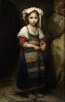 Italian School, 19th Century Young girl in peasant dress